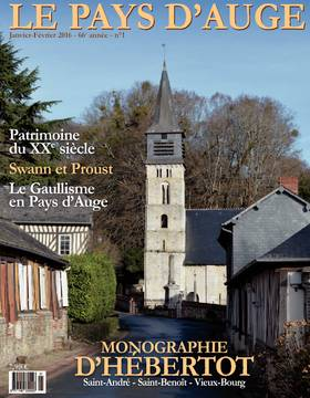 Revue le Pays d'Auge couverture janvier-février 2016