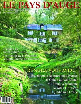 Revue le Pays d'Auge couverture Novembre/Décembre 2010
