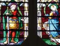 Raymond-Théodore et Marie-Antoinette Troplong représentés en saint Théodore et sainte Antoinette