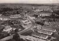 Les barraquements de la Cité du Calvaire (en bas à droite) dans les années 60