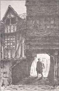 Arrivée du permissionnaire dans une vieille cour à Lisieux