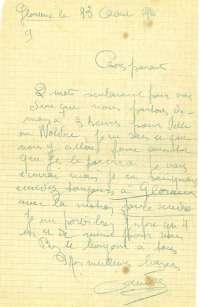 Lettre d'André Josse