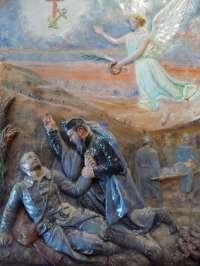 Autel latéral. Bas-relief. Hommage aux morts de la guerre 14-18 (16)