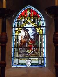 Vitrail. Vision de saint Hubert (4)