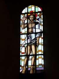 Eglise. Choeur. Christ resscuscité. XXè siècle.