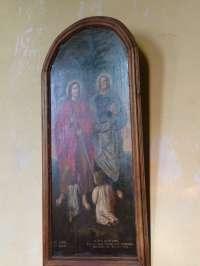 Le Sap, église St-Pierre-St-Paul, St Come et St Damien, huile sur toile.