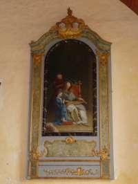 Basseneville. Eglise de l'Assomption. Education de la Vierge d'après Jouvenet.