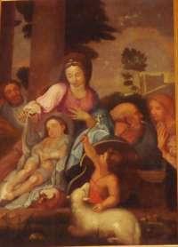 Basseneville. Eglise de l'Assomption. Ste Famille d'après Sébastien Bourdon.