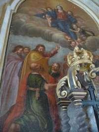 Basseneville. Eglise de l'Assomption. Assomption de la Vierge d'après Laurent La Hyre.