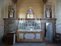 Eglise, choeur, vue générale du maître autel et de son retable