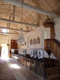 Eglise, vue intérieure de la nef, côté sud