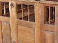 Eglise, intérieur, nef, inscription et date sur un banc